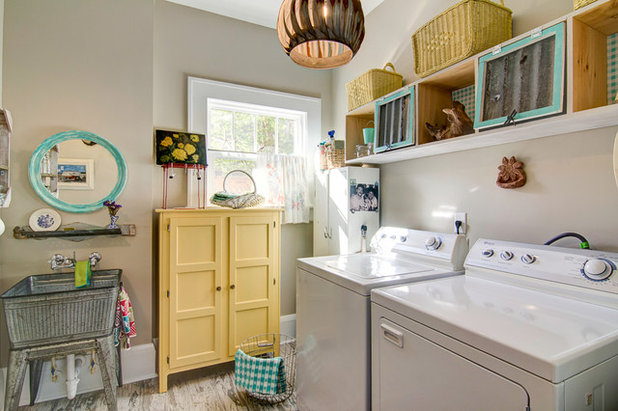 Beach Style Laundry Room by Centerbeam Construction