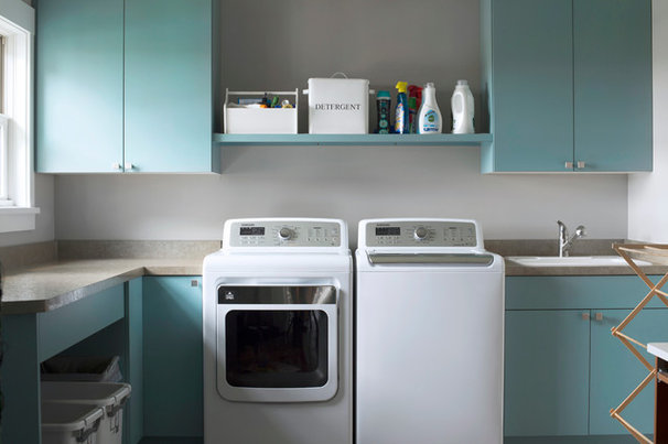 Transitional Laundry Room by Nor-Son, Inc.