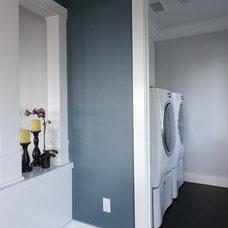 Beach Style Laundry Room by benjamin john stevens, architect