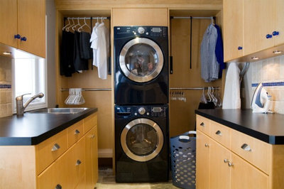 Traditional Laundry Room by c3d design