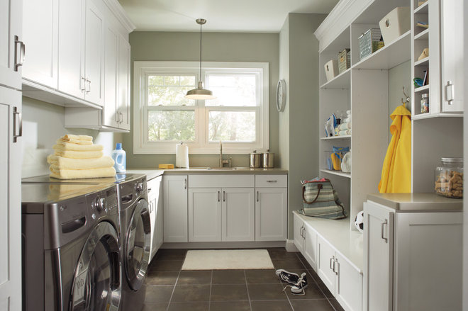 Transitional Laundry Room by Pro Stone