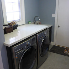 Transitional Laundry Room by J. Roberts and Associates Interiors, Inc.