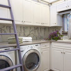 Eclectic Laundry Room by Sarah Barnard Design