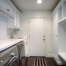 Transitional Laundry Room by AZ BuildPro