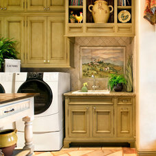Mediterranean Laundry Room by Steve Richmond Fine Homes
