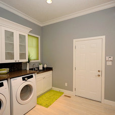 Contemporary Laundry Room by Marie Hebson's interiorsBYDESIGN Inc.