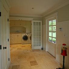 Laundry Room by Kenorah Design + Build Ltd.