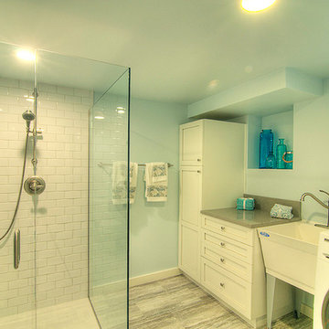 Capitol Hill Master Bath with laundry room