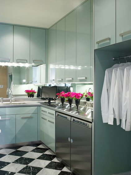 Contemporary Laundry Room by Jamie Herzlinger