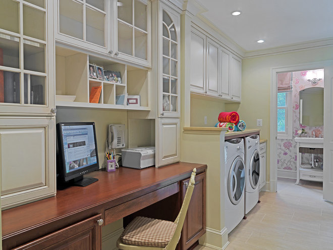 Traditional Laundry Room by Case Design/Remodeling, Inc.