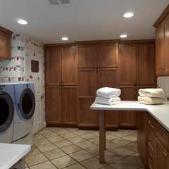 eclectic laundry room by Case Design/Remodeling, Inc.