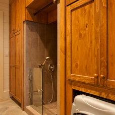 Rustic Laundry Room by Morgan-Keefe Builders, Inc.