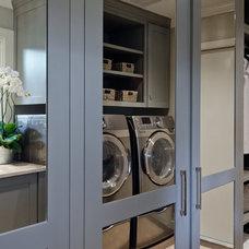 Transitional Laundry Room by BRADSHAW DESIGNS LLC