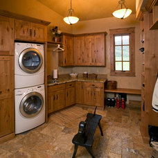 eclectic laundry room by Amaron Folkestad GC Steamboats Builder