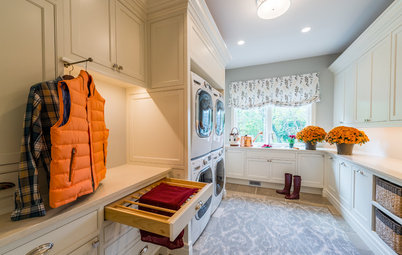 New This Week: 4 Envy-Inducing Laundry Rooms With Clever Storage