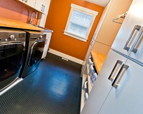Modern laundry room flooring