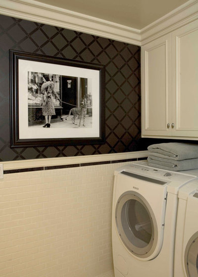 Traditional Laundry Room by Charmean Neithart Interiors