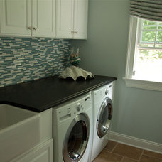 Transitional Laundry Room by W Design Interiors