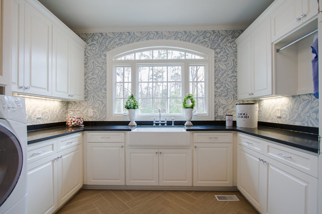 Traditional Laundry Room by Abbey Construction Company, Inc.