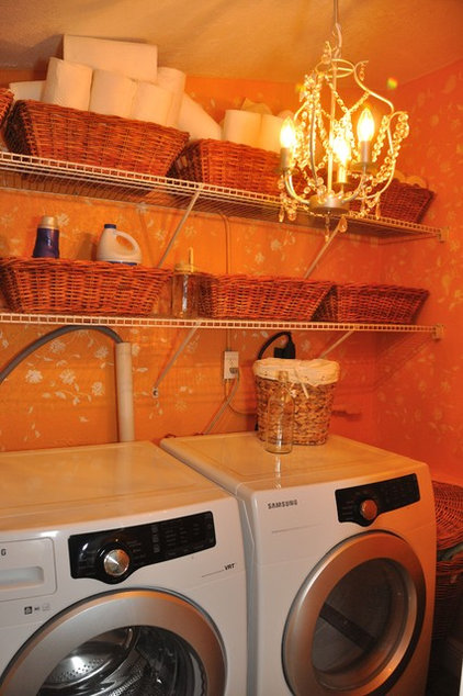 Eclectic Laundry Room Cheery Laundry Room