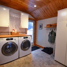 Farmhouse Laundry Room by StyleHaus Interiors