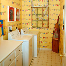 Eclectic Laundry Room by Cheri Bradshaw