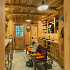 Rustic Laundry Room by Platt Architecture, PA