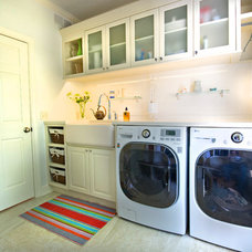 contemporary laundry room by Finishing Touch Custom Woodworks, Inc.