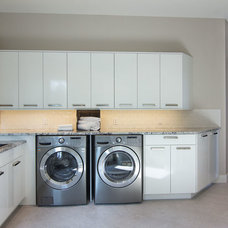 Contemporary Laundry Room by Bellano Tile Company