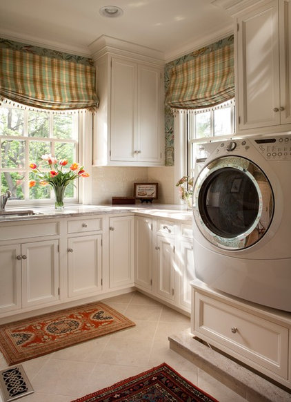 Traditional Laundry Room by Diane Burgoyne Interiors