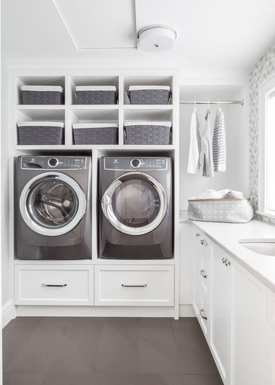 Transitional Laundry Room by LIDA Homes