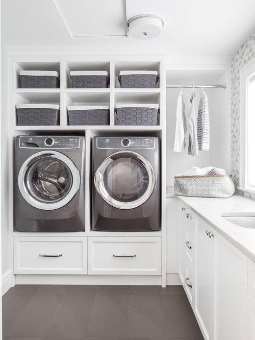 Fotos de lavaderos | Diseños de cuartos de lavado clásicos renovados