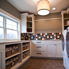 Traditional Laundry Room by Woodways