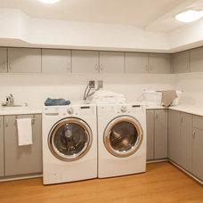 Contemporary Laundry Room by Kenorah Construction & Design Ltd