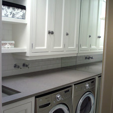 Traditional Laundry Room by Charles Virone Concept