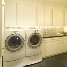 Modern Laundry Room by White Space Architecture