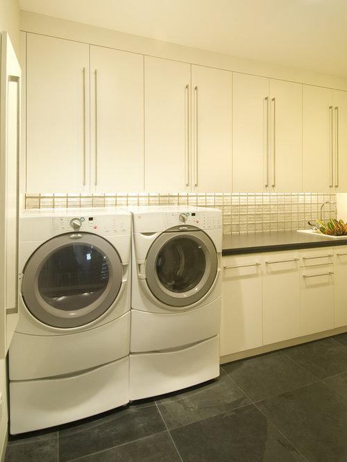 Minimalist Laundry Room Design Example Of A Minimalist Laundry Room Design In Minneapolis