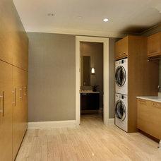 Transitional Laundry Room by Abruzzo Kitchen & Bath