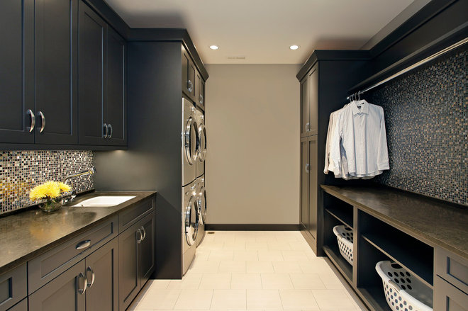 Transitional Laundry Room by Abruzzo Kitchen & Bath