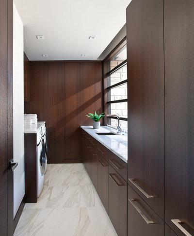 Contemporary Laundry Room by Caden Design Group