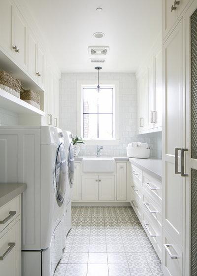 Beach Style Laundry Room by Flinn Designs