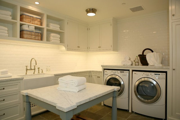 Traditional Laundry Room by Morrow and Morrow Corporation