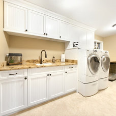 Craftsman Laundry Room by Closet Organizing Systems