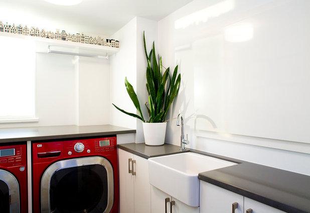 Contemporary Laundry Room by Andrea Rodman Interiors