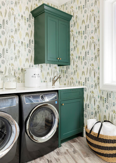 Beach Style Laundry Room by Kroiss Development, Inc.