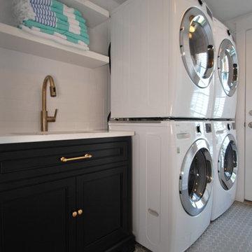 Coastal Laundry Room and Mudroom Renovation