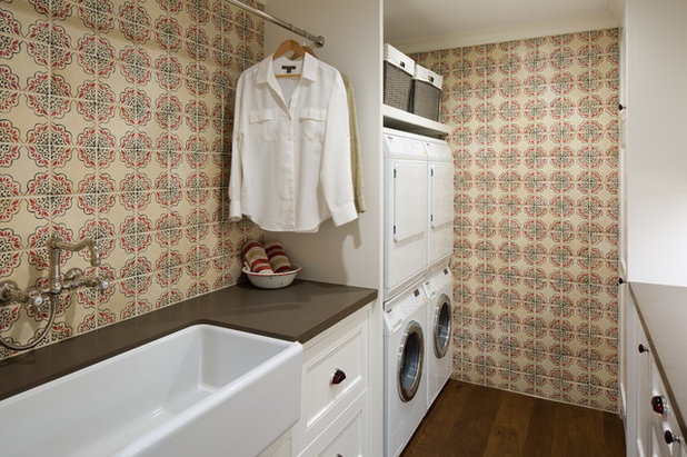 Farmhouse Laundry Room by Anne Sneed Architectural Interiors