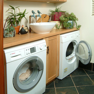 Inspiration for a beach style laundry room remodel in Orlando