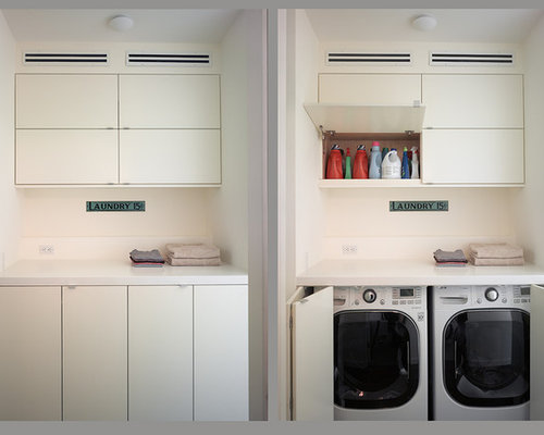 Modern laundry room design ideas remodels photos - Meuble de rangement cellier ...