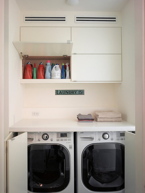 example of a minimalist laundry room design in san francisco